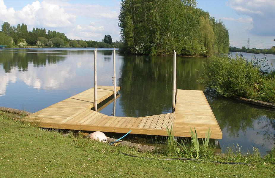 R A Marine Bespoke U-shaped Jetty