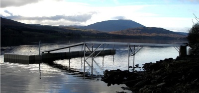 Jetty, ramp and pontoon