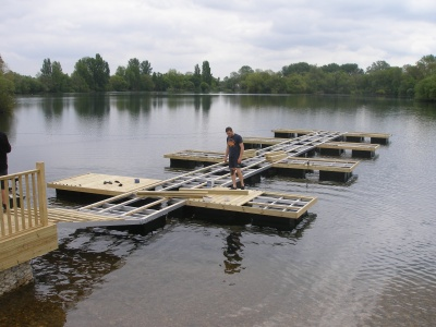 Pontoon installation
