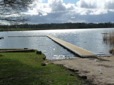 Angled bespoke built jetty