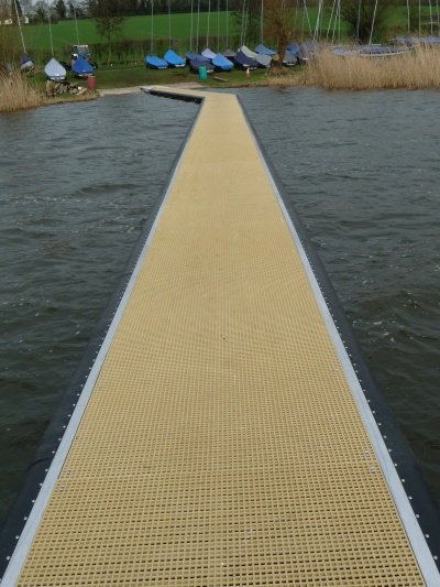 Bespoke built angled jetty